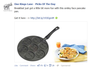 Facebook Promoted Ad